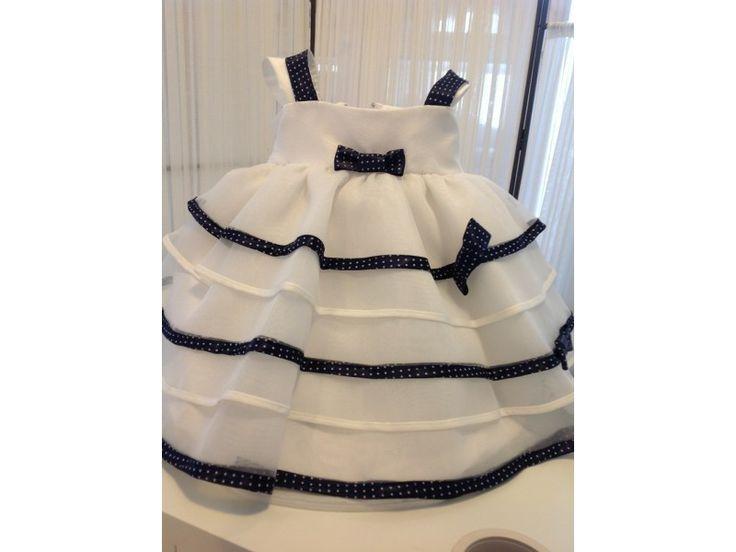 Βαπτιστικό φόρεμα ριγέ