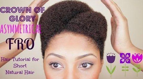 The Asymmetrical Afro Tutorial On Short Hair
