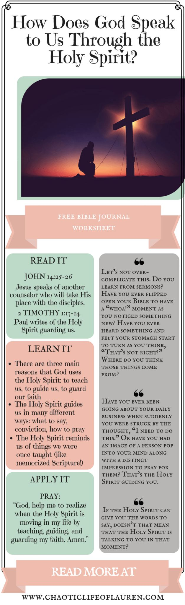 How can God speak to us through the Holy Spirit? | Christian Lifestyle | Biblical Womanhood | Devotional | Faith | Holy Spirit | Relationship with Christ |