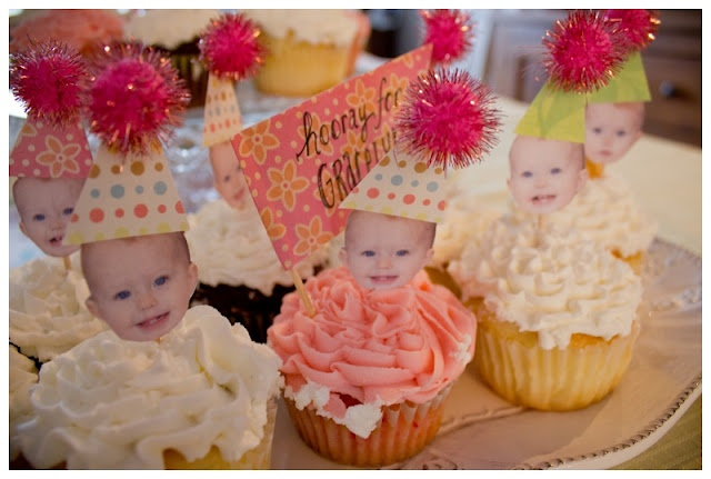 baby party idea: Fun Cupcake, Baby Party, Birthday Fun, 1St Bday, First Birthday Cupcake, Amazing Food, Cupcake Decoration, Cupcake Toppers, Birthday Party