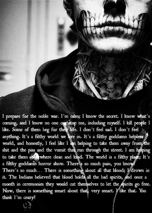Favorite AHS quote. Tate Langdon