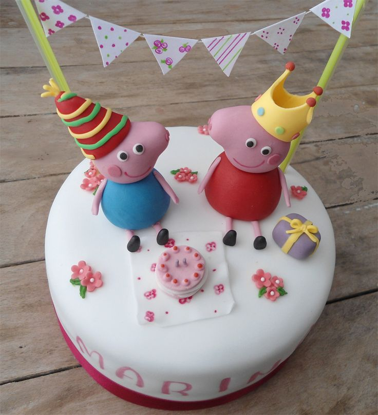 How To Make A Peppa Pig Cake With Royal Icing