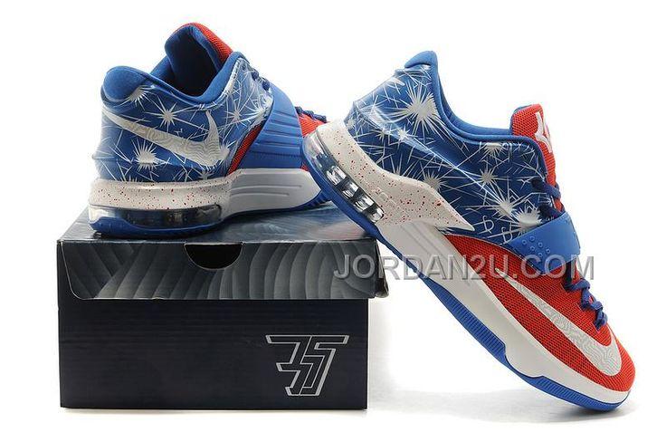 http://www.jordan2u.com/kd-shoes-kevin-durant-7-captain-america-blue-white-shoes.html KD SHOES KEVIN DURANT 7 CAPTAIN AMERICA BLUE WHITE SHOES Only $78.00 , Free Shipping!