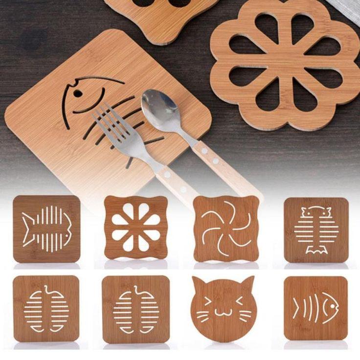 Без тепла Деревянные подставки творческие Место коврик для офиса чашки кофе Мат Домашнего Декора ПОДЕЛКИ ручной работы coaster простое животное форма L45 купить на AliExpress