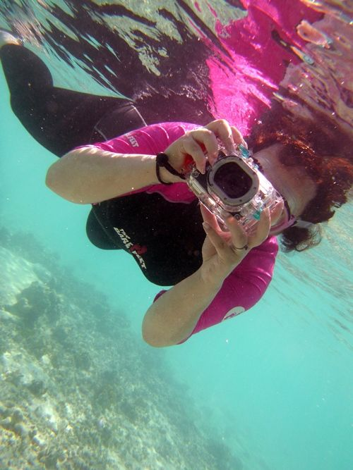 Tips for taking great pictures while snorkeling and scuba diving.