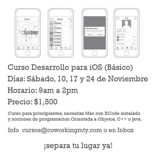 Curso Desarrollo para iOS (Básico) | Coworking Monterrey - Espacio Creativo