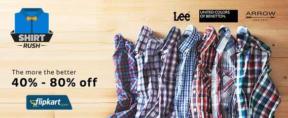 Today #Flipkart Shirt Rush Offer! Buy Top brand Men's #Shirts ...
