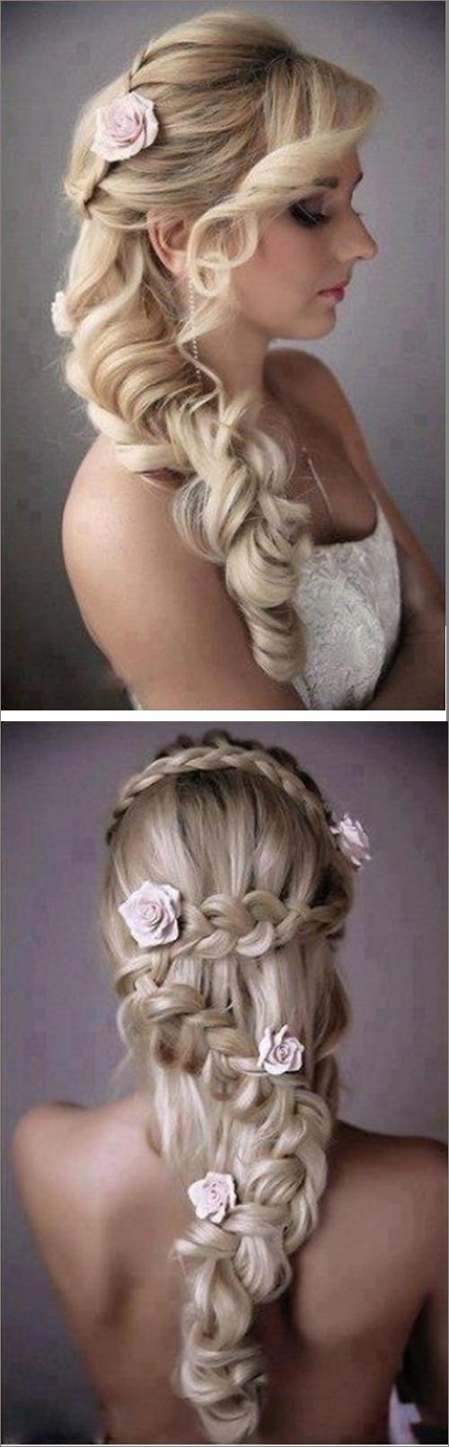 Loose Cascading Braid / WeddinginSummer