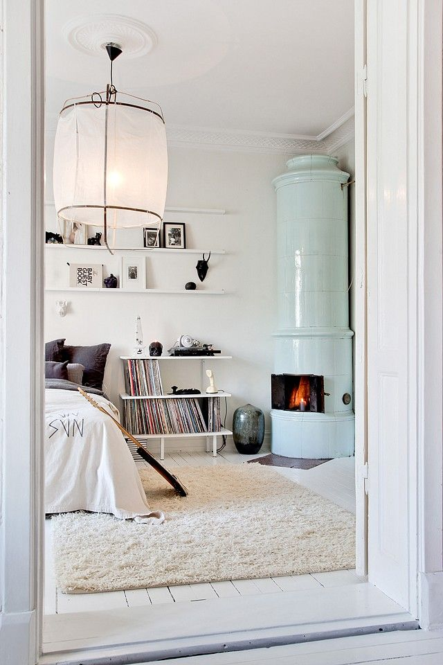 ...especially love the pale aqua fireplace