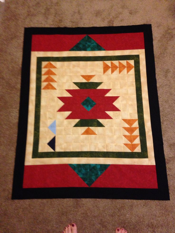 Southwestern baby quilt