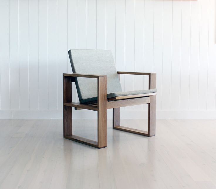 American Oak and Linen Box Chair - Mr & Mrs White Designs, Furniture Manufacturers, Mona Vale, NSW, 2103 - TrueLocal