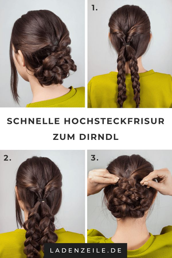Hairstyles for the Dirndl: Style simply a nice braiding hairstyle!