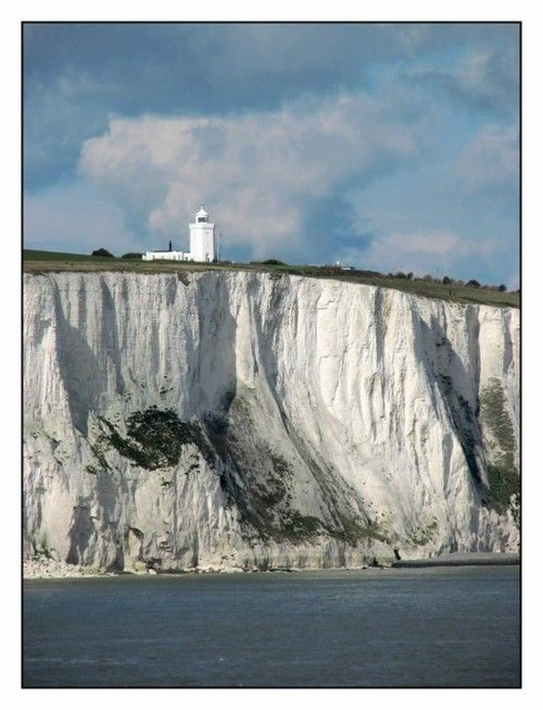 The White Cliffs of Dover, England---stayed at home where Ian Fleming visited---1993--British Open at Sandwich that year