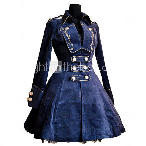 THIS SITE HAS SOOO MANY AMAZING LOOKS CHECK IT OUT. NOT FEELING LIKE LOOKING THROUGH THE WHOLE SITE NOW.  Roman Woolen Rose Pattern Embroidery Classic Lolita Coat
