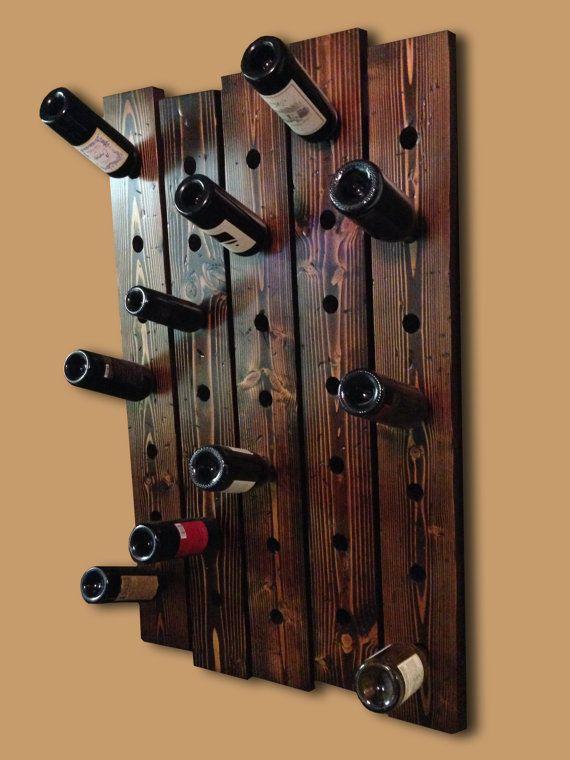 35 bottle rustic wine rack by BottleSparkle on Etsy, $99.99