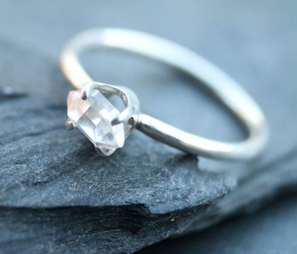 Herkimer Diamond Ring by Villain Accessories
