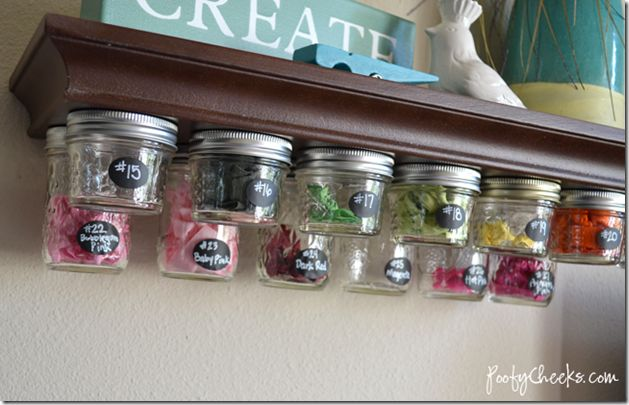 Craft Room Storage | Mason Jar Crafts Love