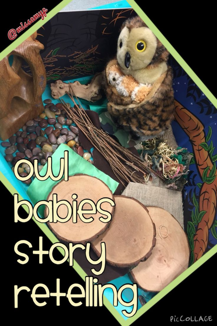 Our small world for Owl Babies to encourage story retelling.