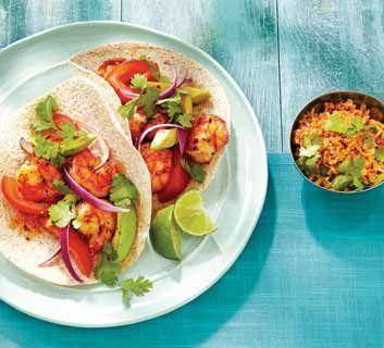 Tacos souples aux crevettes grillées