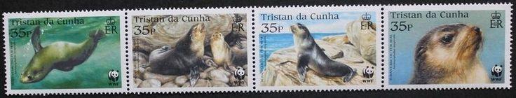 Endangered species: Subantarctic fur seal stamps, 2004, Tristan da Cunha, MNH