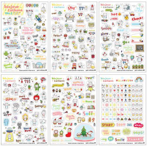6-Sheets-Cartoon-DIY-Calendar-Diary-Book-Sticker-Scrapbook-Decoration-Planner