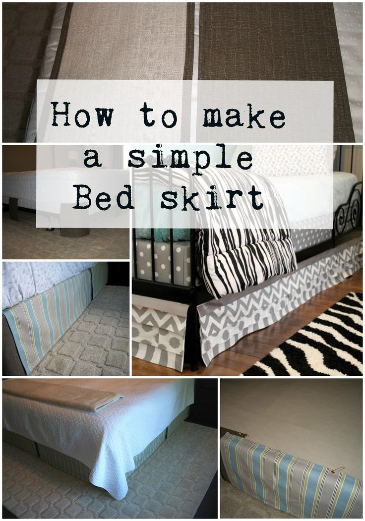 How to make a simple Bed skirt