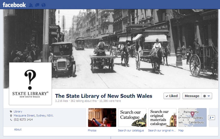 Follow the State Library Facebook page