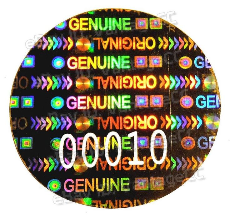 Large security hologram numbered labels 24mm round warranty stickers genuine pc in business office