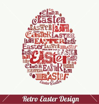 Easter design vector on VectorStock® - love some of these fonts