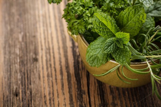 Fresh herbs by Grafvision photography on Creative Market
