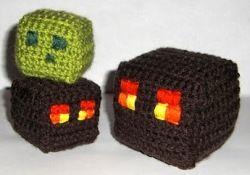 Free Amigurumi Patterns: Minecraft Slime & Magma Cubes