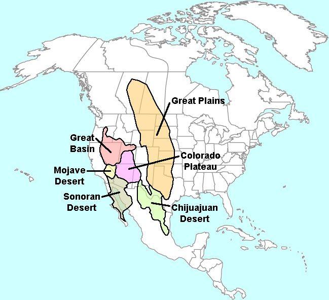 Deserts of North America  Desert Heart  Pinterest  Geology and