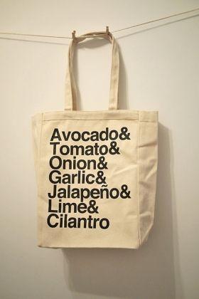 Guacamole, the tote bag edition.