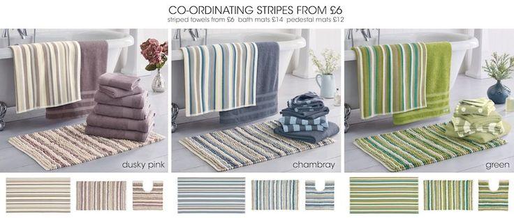 Next - Dusky Pink Stripes - towels & Bath Mats - Page 7