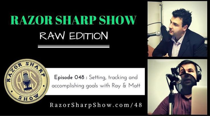 What's all this raw podcasting fuss about... #razorsharp listen to the podcast. Link in the bio.