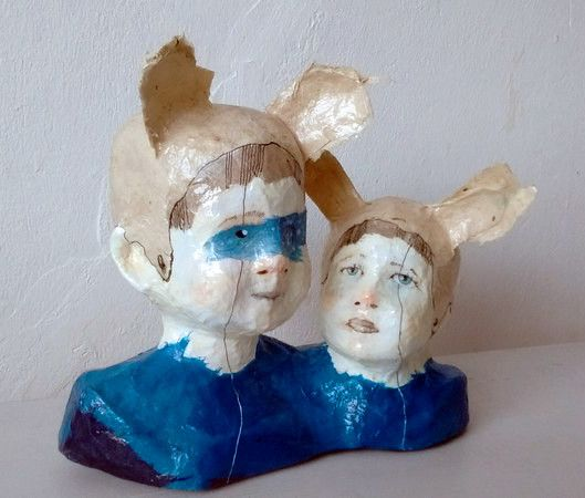 Skulpturen - Geschwister - ein Designerstück von feicht bei DaWanda