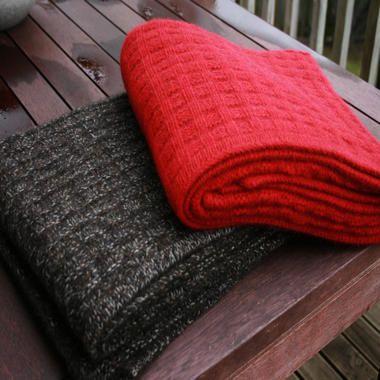 Chunky Merino Wool & Possum Fur Throw
