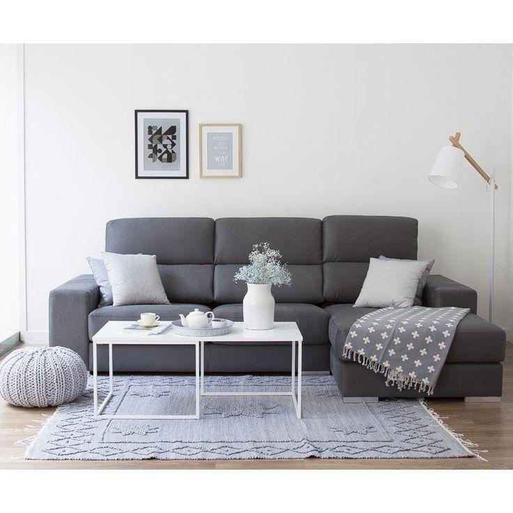 Sofá con asientos deslizantes y respaldos reclinables