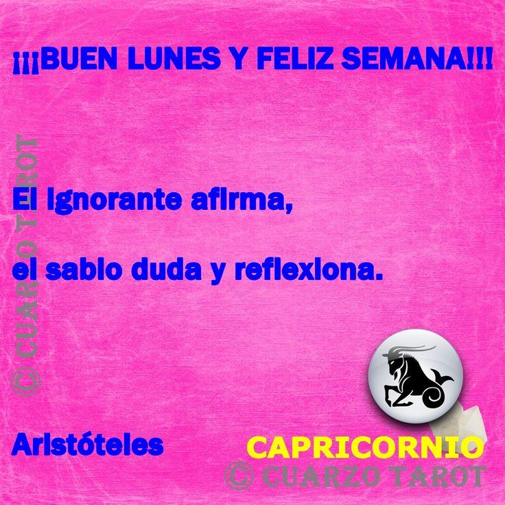 Capricornio Lunes 11 de Abril, 2016  CAPRICORNIO Buen lunes y feliz semana, #FelizLunes tendrás que actuar con firmeza ante las peticiones de otros, valora los riesgos que te pueden hacer que tu día sea un constante enfrentamiento.