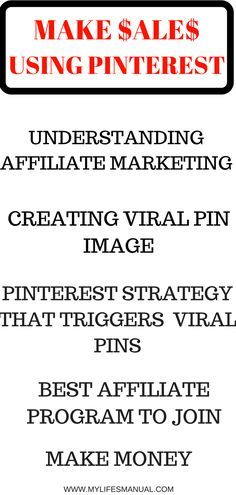 How to make money on Pinterest step by step. Make money fast. How to make money at home? Make money blogging from affiliate program. (affiliate link)