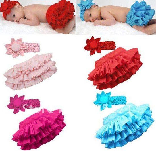 Zomer meisjes schattige taart rok broek pp + suits baby hoofdbanden bloem haarbanden kinderen kleding set