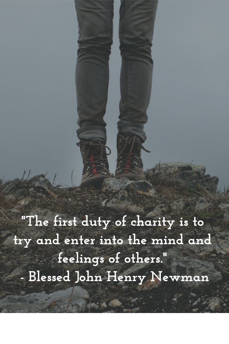 Quote by Blessed John Henry Cardinal Newman, who knew what it was to be ostracized and abandoned. This happened to him when he converted to the Catholic faith.