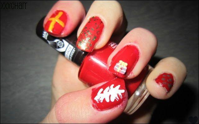 Sinterklaas nagels (zien er iets makkelijker uit dan de pieten nagels)