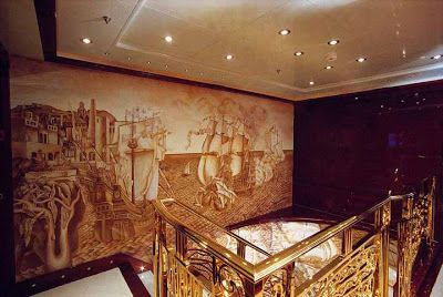 """""""Tweedland"""" The Gentlemen's club: The Fabulous Interiors of The SS Normandie."""