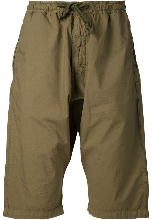 $249, MHI Maharishi Drawstring Drop Crotch Shorts. Sold by farfetch.com. Click for more info: https://lookastic.com/men/shop_items/262501/redirect