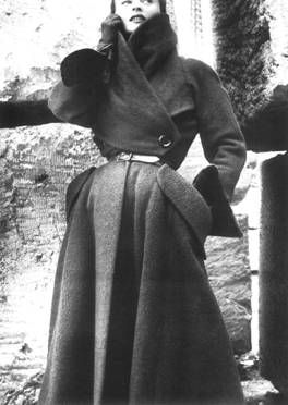 Christian Dior, 1950. we'll have lots of coats too.