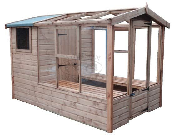 shed greenhouse combi greenhouse chicken coop garden shed combination - Garden Sheds Greenhouses Combined
