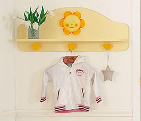 mensola appendiabiti panna/arancio #baby #crib #cot