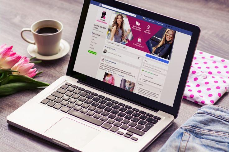 Návrh Facebook grafiky pro internetový obchod Levná dámská móda. #facebook #cover