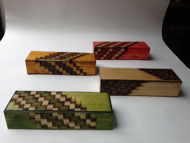 Cajas en madera decorativas realizadas en tecnica de - Cajas de madera decorativas ...